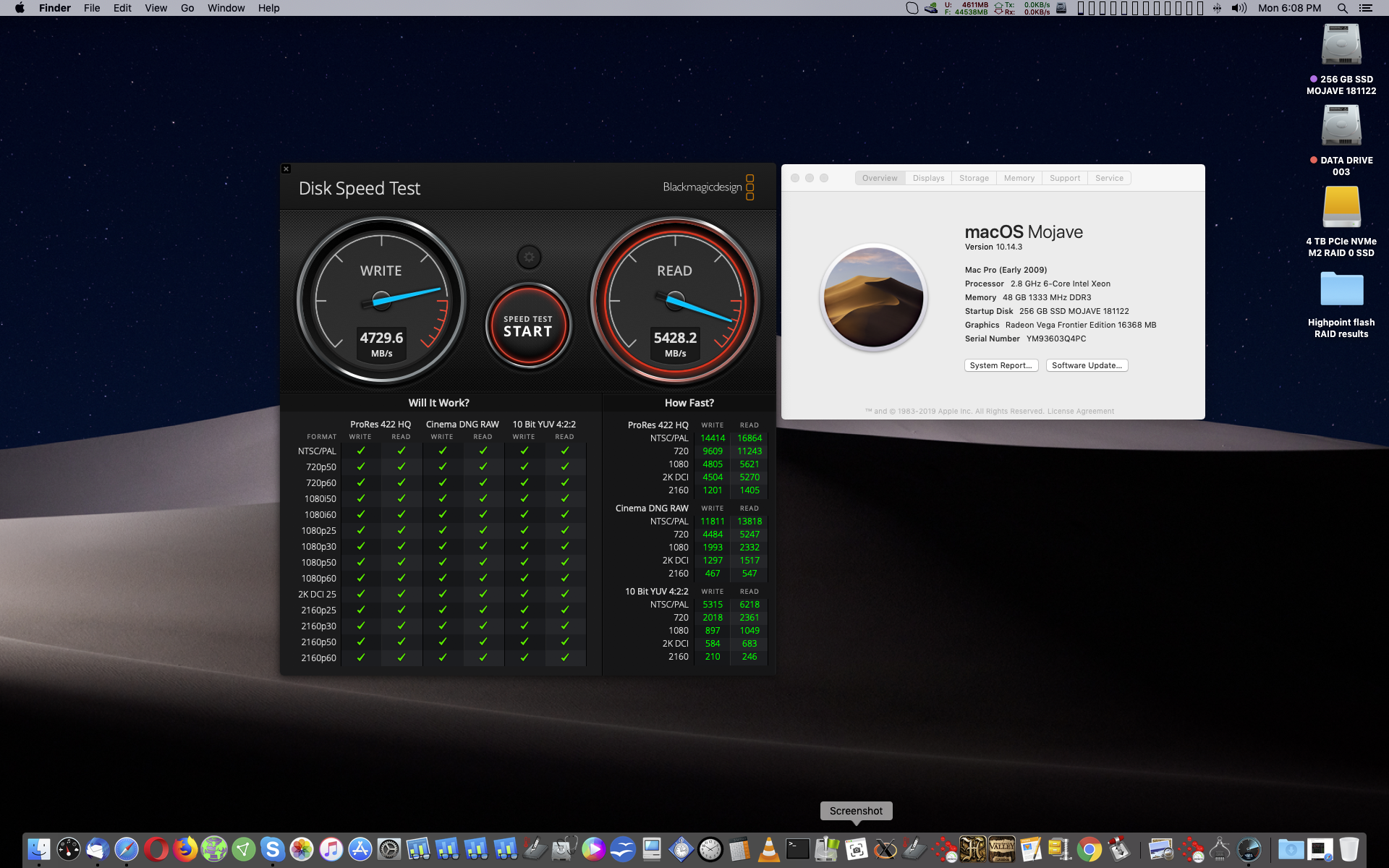 Dual AMD Vega Frontier Editions in a classic Mac Pro ( 2009 – 2012